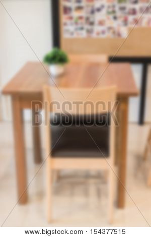 Blur interior of street coffee shop, stock photo