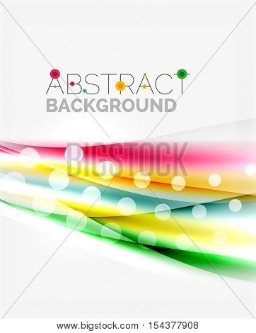 Shiny color lines on white background - vector motion