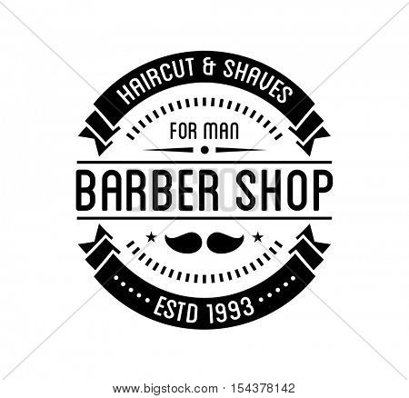 Vintage barber shop logo and beauty spa salon badge. Vector element. Isolated icons on white background
