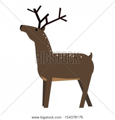 Cute cartoon deer. Vector Illustration isolated on background