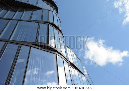 Wavy Building and Sky