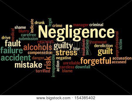 Negligence, Word Cloud Concept 6