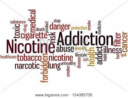 Nicotine Addiction, Word Cloud Concept 2