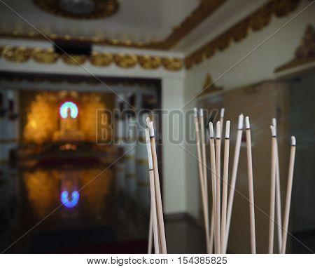 JOSS STICKS (Group of joss stick, at Buddhist temple)