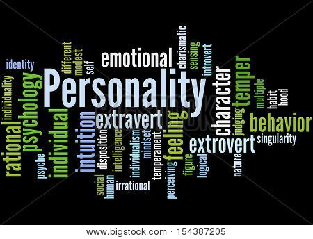 Personality, Word Cloud Concept 3