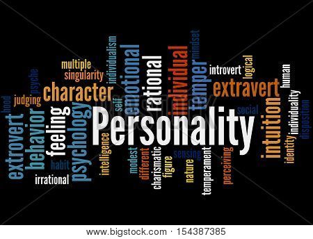 Personality, Word Cloud Concept 6