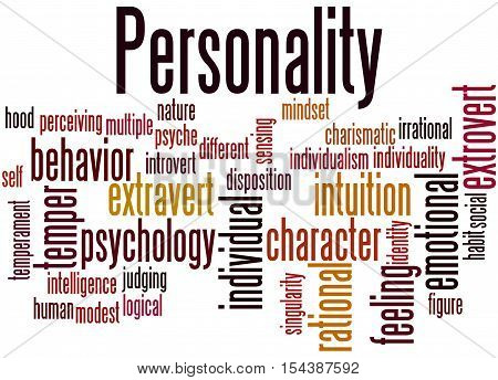 Personality, Word Cloud Concept 9