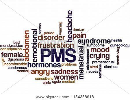 Pms, Word Cloud Concept 8