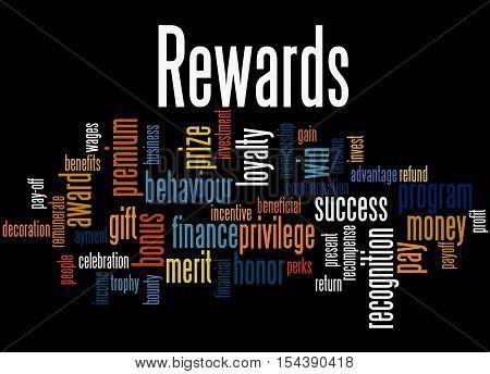 Rewards, Word Cloud Concept 7