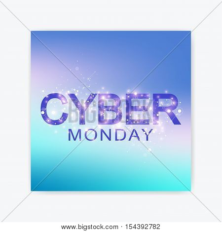 Cyber Monday Sale flyer design template. Graphic abstract background communication. Cyber Monday Sale Vector illustration