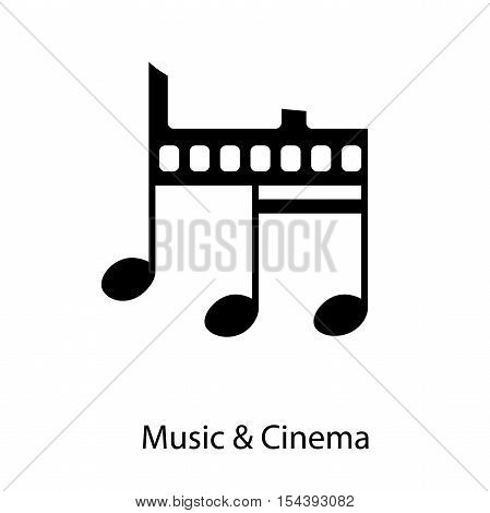 Vector illustration Vintage Music and Cinema in abstract shape