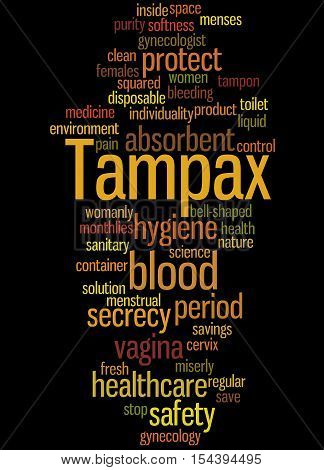 Tampax, Word Cloud Concept 8