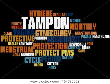 Tampon, Word Cloud Concept 5