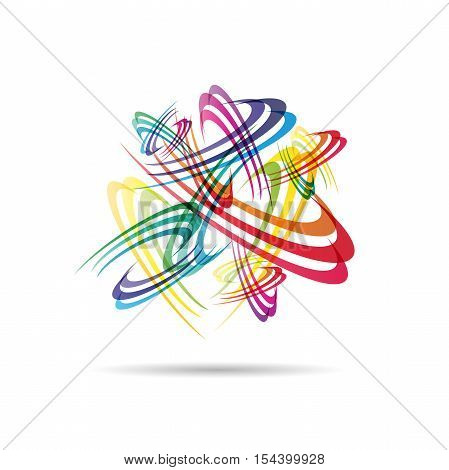 Vector Caos background  in abstract shape illustration poster