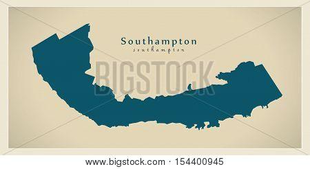 Modern Map - Southampton BM Bermuda illustration vector