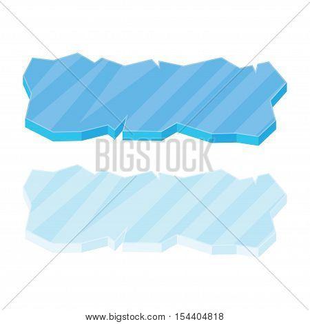 Ice floe icon symbol vector illustration isolated on white background.