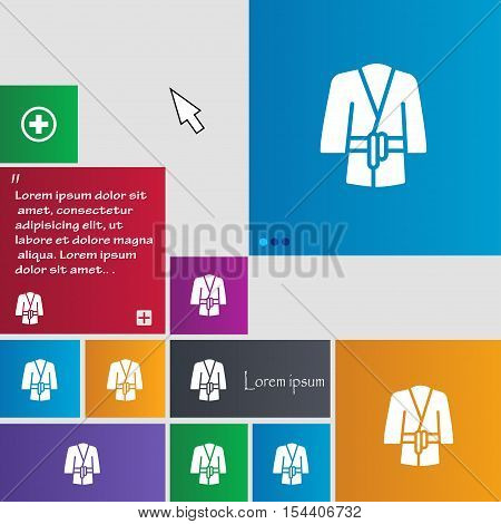 Bathrobe Icon Sign. Buttons. Modern Interface Website Buttons With Cursor Pointer. Vector