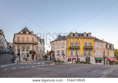 OLORON SAINTE MARIE,FRANCE - AUGUST 31,2016 - In the streets of Oloron Sainte Marie. Town is situated at the feet of the Pyrenees 50 km from the Spanish border and 100 km from the Atlantic ocean.