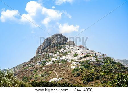 View of town Skyros island. Sporades Greece