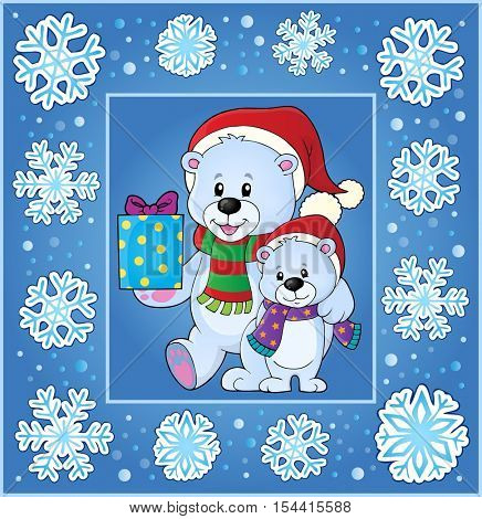 Christmas thematics greeting card 1 - eps10 vector illustration.