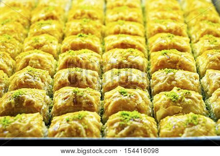 dessert a variety of delicious Oriental sweets Turkish