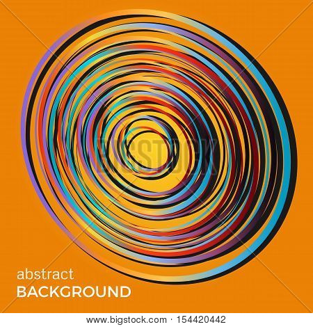 Beautiful light circles on a yellow background. Abstract flash light circles. Vector technology background.