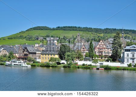 Wine Village of Traben-Trarbach at Mosel River in Mosel Valley,Rhineland-Palatinate,Germany