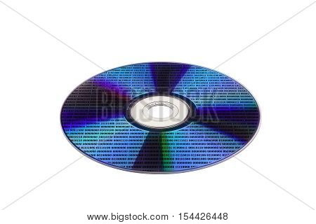optical disc with a diffraction effect on the surface and data in the form of numbers