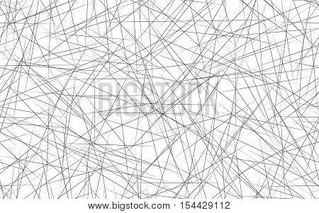 Geometric Illustration With Random, Edgy, Irregular Lines. Dynamic Intersecting Lines.