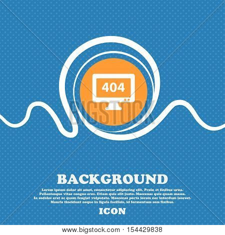 404 Not Found Error Icon Sign. Blue And White Abstract Background Flecked With Space For Text And Yo