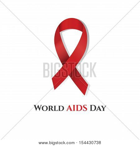 World AIDS Day (red ribbon). Vector illustration