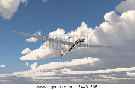 Computer generated 3D illustration with a glider