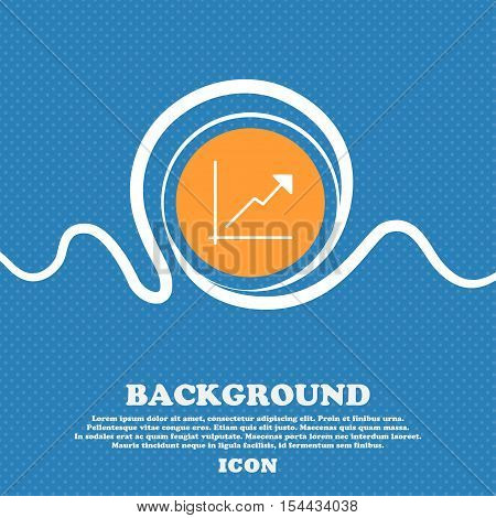 Chart Icon Sign. Blue And White Abstract Background Flecked With Space For Text And Your Design. Vec