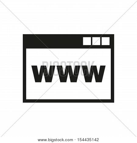 The WWW icon. SEO and browser, development symbol. UI. Web. Logo. Sign. Flat design. App. Stock vector