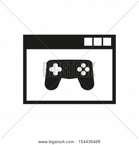 Online games icon. vector design. gaming symbol. web. graphic. JPG. AI. app. logo. object. flat. image. sign. eps. art. picture - stock vector