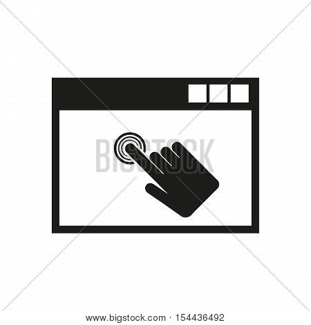 Click icon. vector design. symbol. web. graphic. JPG. AI. app. logo. object. flat. image. sign. eps. art. picture - stock vector