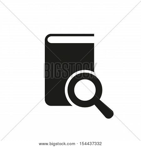 Book search icon. vector design. Library symbol. web. graphic. JPG. AI. app. logo. object. flat. image. sign. eps. art. picture - stock vector