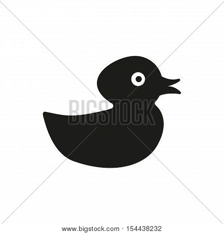Duck icon. design. Toy and animal symbol. web. graphic. AI. app. logo. object. flat. image. sign. eps. art. picture - stock vector