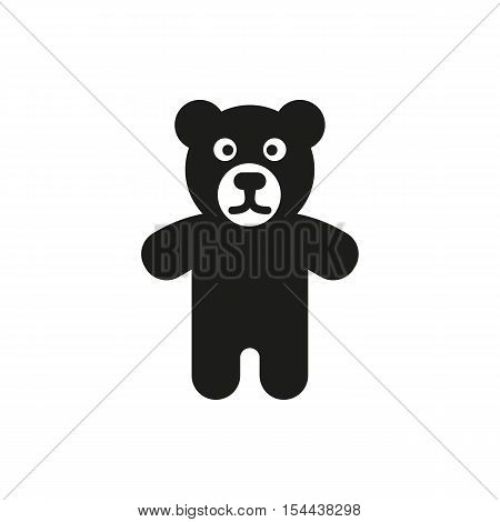 Bear icon. design. Toy symbol. web. graphic. AI. app. logo. object. flat. image. sign. eps. art. picture - stock vector