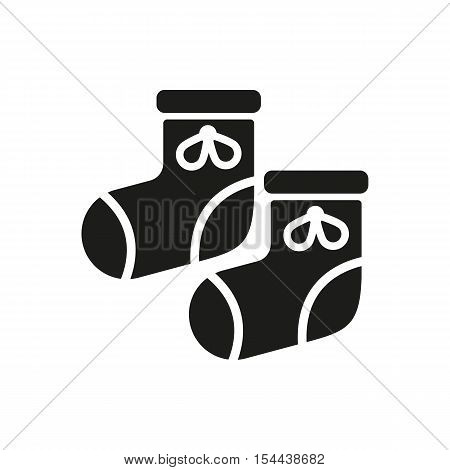 Babys bootees icon. design. Socks, sox symbol. web. graphic. AI. app. logo. object. flat. image. sign. eps. art. picture - stock vector