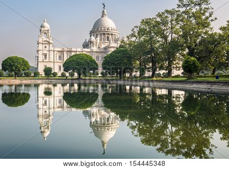 Victoria Memorial architectural building monument and museum at Kolkata built in the memory of Queen Victoria.