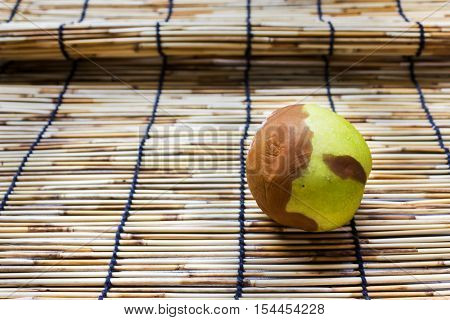 Spoil or putrefy apple decay on mat