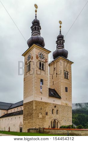 Gurk Cathedral is a Romanesque pillar basilica in Gurk in the Austrian state of Carinthia. It is one of the most important Romanesque buildings in Austria