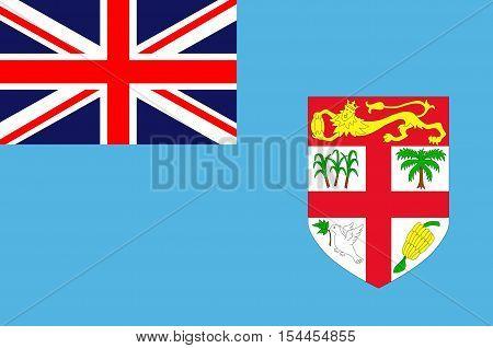 Flag of Fiji Suva - Melanesia. illustration