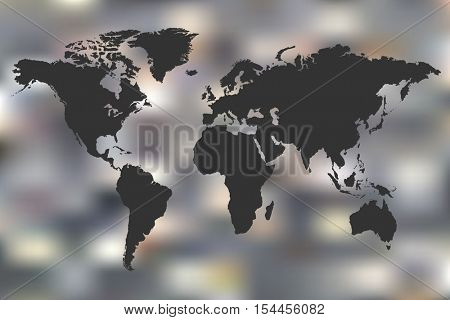 World map abstract illustration