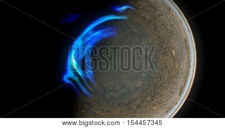 Jupiter North Aurora which is 3D Rendering with a fantasy twist