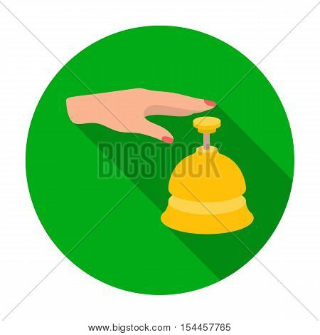 Reception bell icon in flat style isolated on white background. Hotel symbol vector illustration.