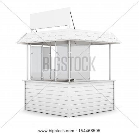 Promo Counter Isolated On White Background. 3D Rendering