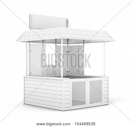 Single Trade Or Promo Counter Isolated. 3D Rendering