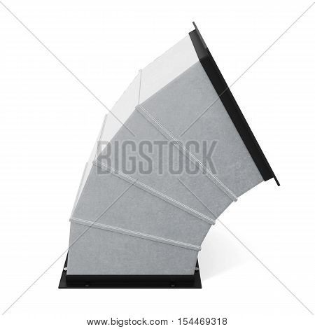 60 Degree Rectangular Bend Duct  Isolated. 3D Rendering